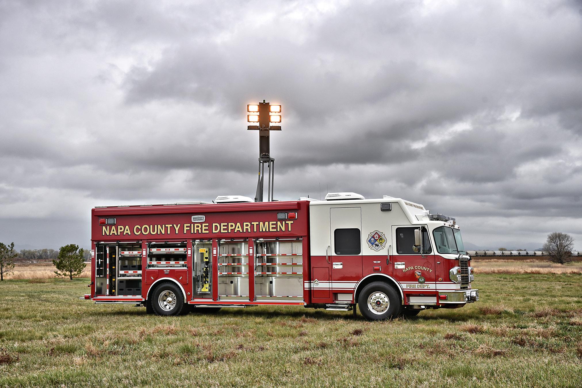 Napa County CA Fire Department Haz Mat 1026 SVI Trucks